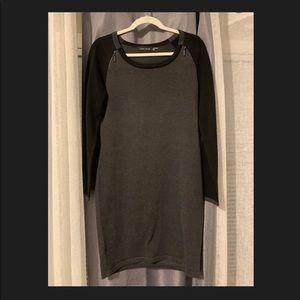 Ivanka Trump Black/Gray Sweater Dress Size M